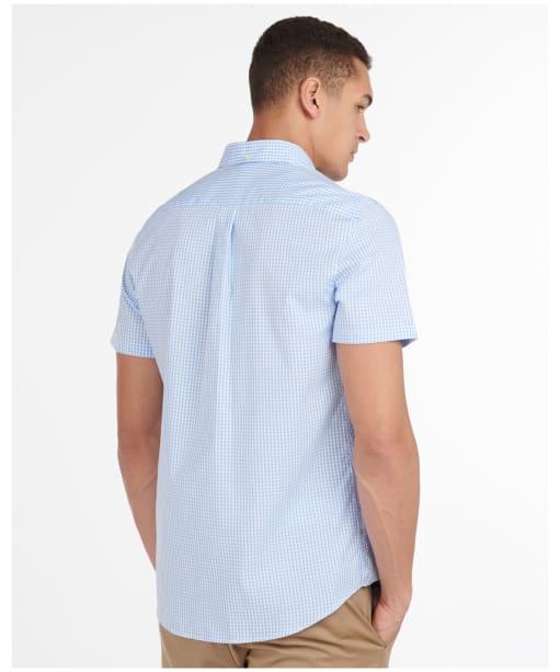 Men's Barbour Gingham 27 S/S Tailored Shirt - Sky Blue