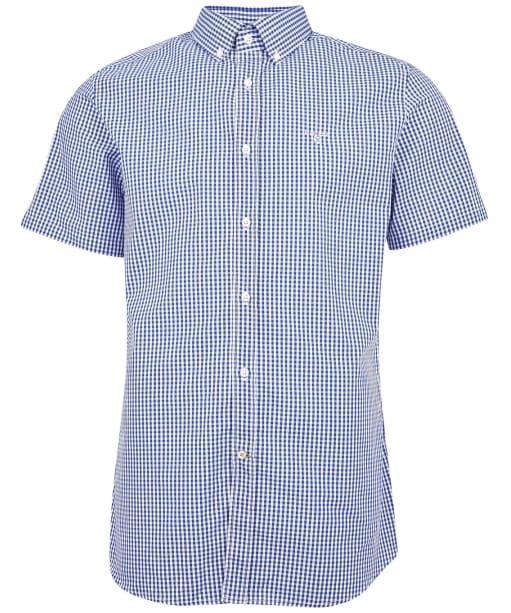 Men's Barbour Gingham 27 S/S Tailored Shirt - Deep Blue