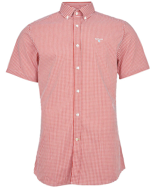 Men's Barbour Gingham 27 S/S Tailored Shirt - Chilli Red