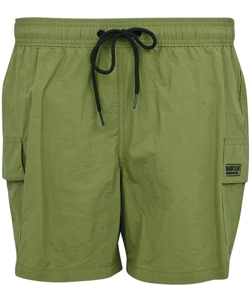 Men's Barbour International Cargo Swim Shorts - Green Military