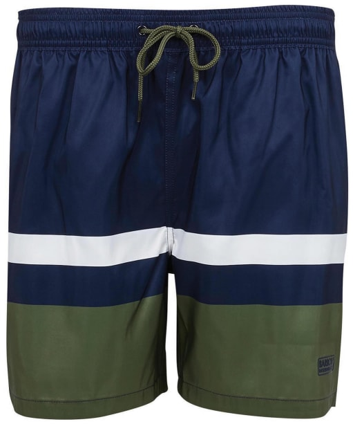 Men's Barbour International Essential Block Stripe Swim Shorts - International Navy