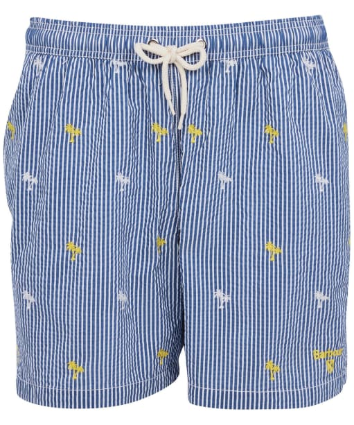Men's Barbour Palm Stripe Swim Shorts - Navy
