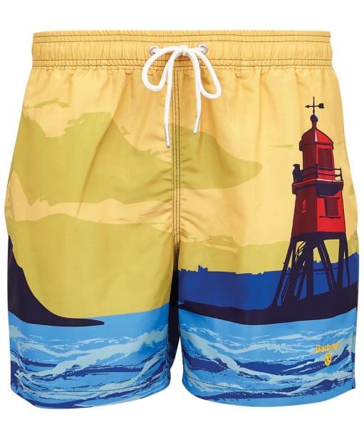 Men's Barbour Beacon Print Swim Shorts - Sunbleach Yellow