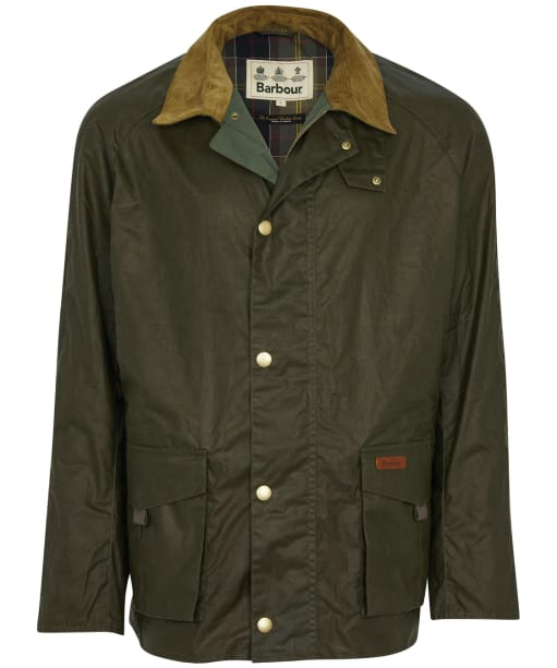 Men's Barbour Alderton Lightweight Waxed Jacket - Archive Olive