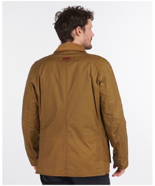 Men's Barbour Alderton Lightweight Waxed Jacket - Sand