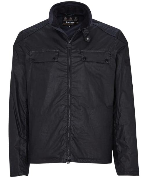 Men's Barbour International Allen Waxed Jacket - Black