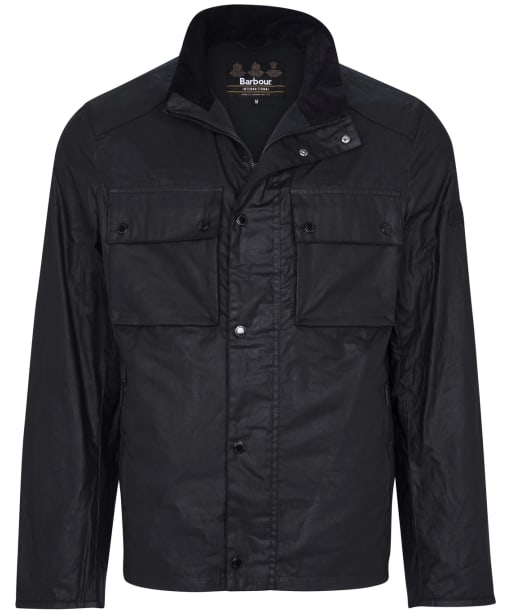Men's Barbour International Challenge Wax Jacket - Black