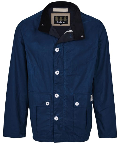 Men's Barbour Qube Waxed Jacket - Posiden