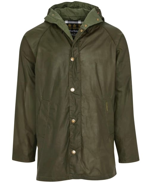 Men's Barbour Breswell Waxed Jacket - Archive Olive