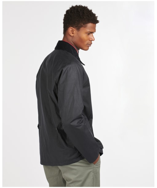 Men's Barbour Selbin Waxed Jacket - Royal Navy