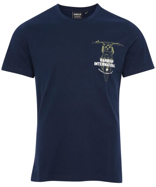 Men's Barbour International Bike Print Tee - Navy