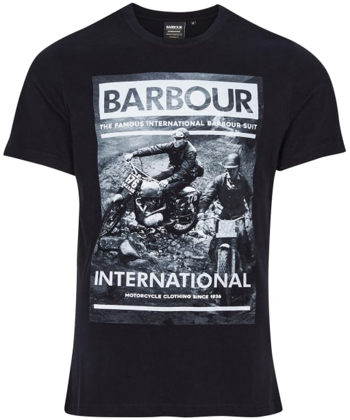 Men's Barbour International Archive Downforce Tee - Black