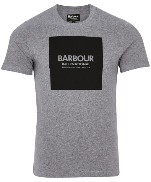 Men's Barbour International Block Tee - Anthracite Marl