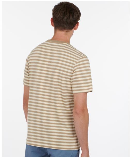 Men's Barbour Delamere Stripe Tee - CORIANDER