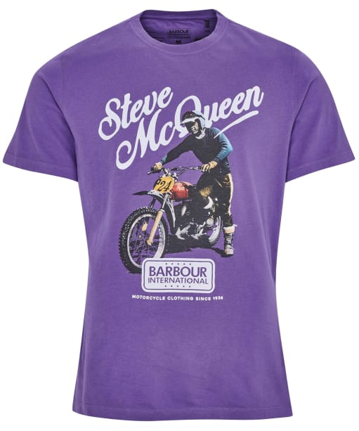 Men's Barbour International Steve McQueen Enduro Tee - Bleached Plum