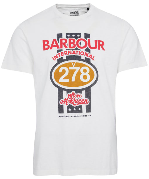 Men's Barbour International Steve McQueen Chase Tee - Whisper White