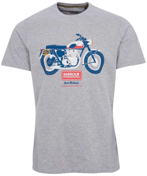 Men's Barbour International Steve McQueen Indiana Tee - Grey Marl