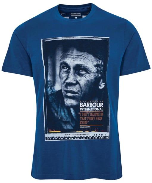 Men's Barbour International Steve McQueen Hero Tee - Dark Petrol