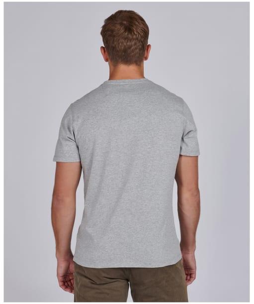Men's Barbour International Steve McQueen Combo Tee - Grey Marl