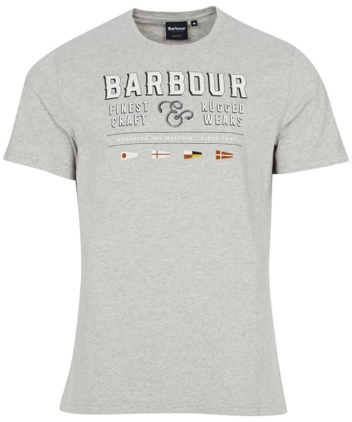 Men's Barbour Rope Tee - Grey Marl