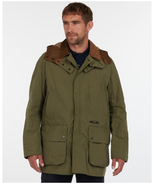 Men's Barbour Gold Standard Supa Ripstop Beaufort Casual Jacket - Dusky Green