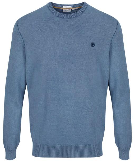 Men's Timberland Lightweight Crew Neck Sweater - Dark Denim