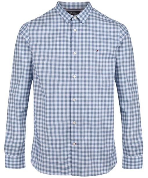 Men's Tommy Hilfiger Slim Flex Houndstooth Gingham Shirt - Blue Ink/Multi