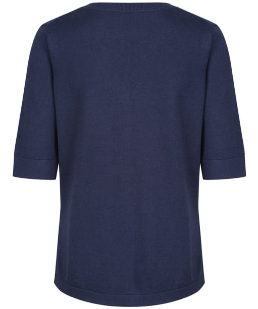 Women's Crew Clothing Knitted Henley Top - Navy