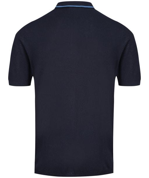 Men's Crew Clothing Tipped Knit Polo Shirt - Dark Navy
