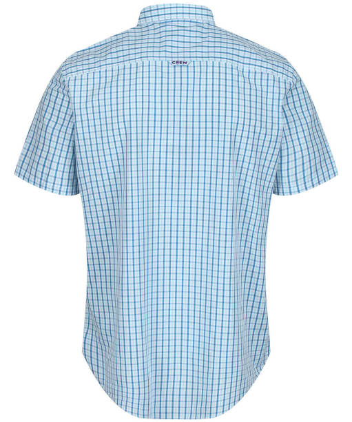 Men's Crew Clothing SS Tattersall Shirt - Spirit Blue / Aqua