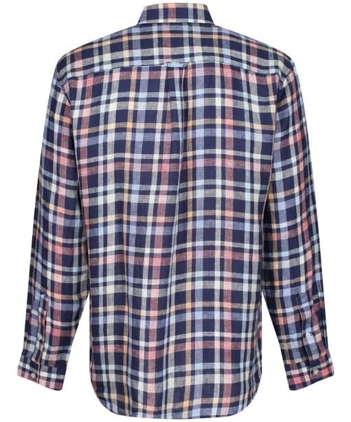 Men's Crew Clothing Glenburn LS Linen Check Shirt - Ink Multi