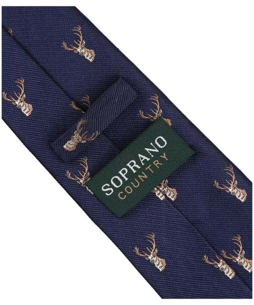 Men's Soprano Stag Heads Tie - Navy