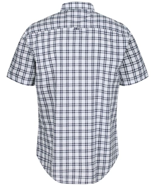 Men's Crew Clothing Lydden SS Check Shirt - White/Navy