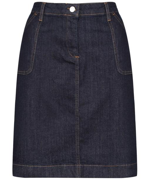 Women's Crew Clothing Denim Pocket Skirt - Dark Indigo