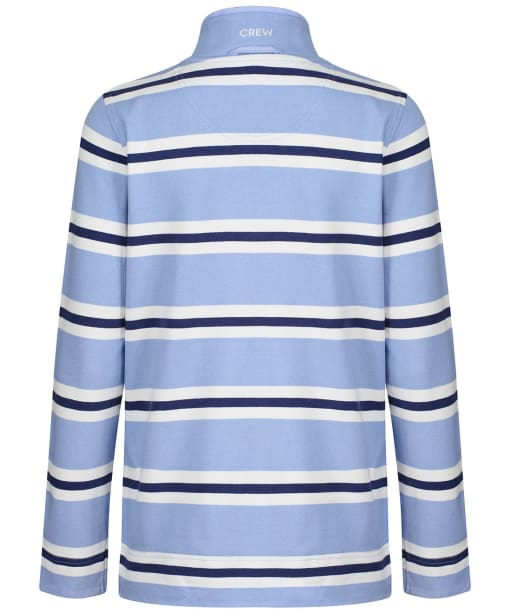 Women's Crew Clothing Summer Padstow Stripe Sweatshirt - Blue Stripe