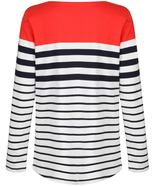 Women's Joules Harbour Long Sleeve Top - Cream / Navy / Red