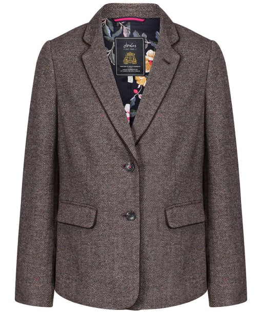 Women's Joules Agatha Single Breasted Blazer - Brown