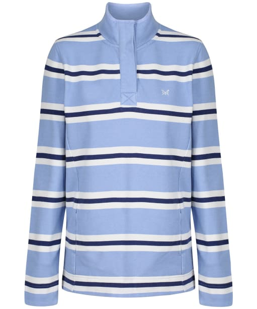 Women's Crew Clothing Summer Padstow Stripe Sweatshirt - Blue Stripe