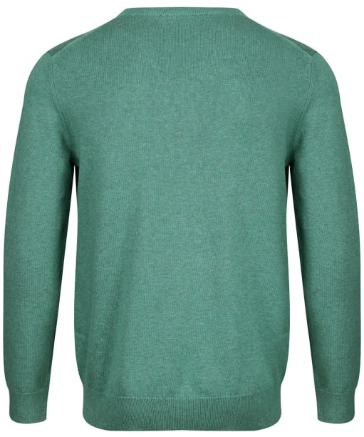 Men's Crew Clothing Foxley Crew Neck Jumper - Green Lake Marl