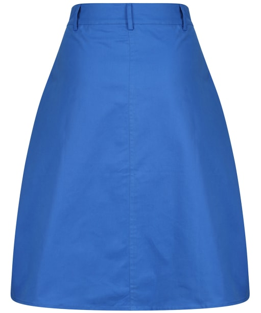 Women's Crew Clothing Button Front Skirt - Strong Blue