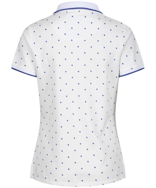 Women's Crew Clothing Revamped Classic Polo Shirt - White / Ultramine