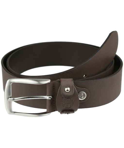 Men's Timberland Cow Leather Belt - Cocoa