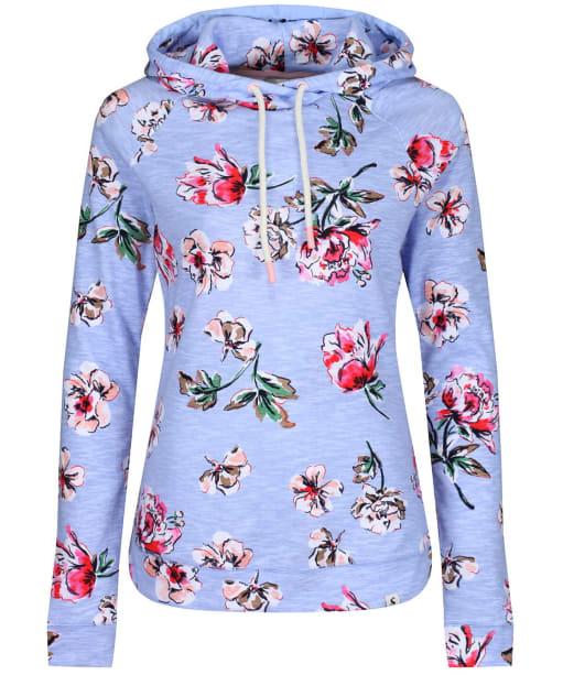 Women's Joules Marlston Print Hooded Sweatshirt - Blue Floral