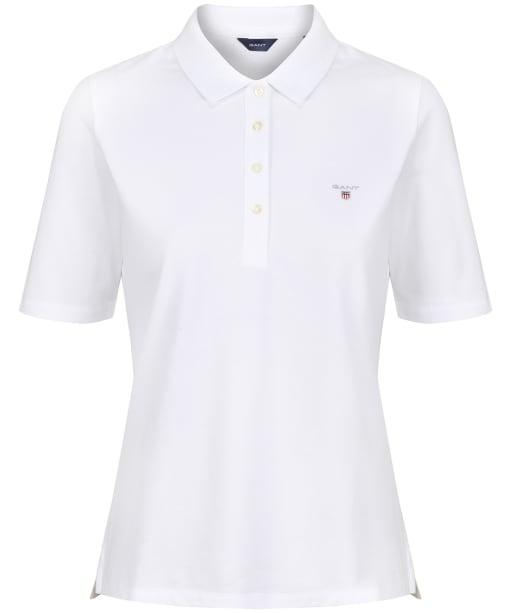 Women's GANT Original LSS Pique Shirt - White