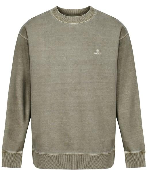 Men's GANT Sunfaded Crew Neck Sweater - Aloe Green