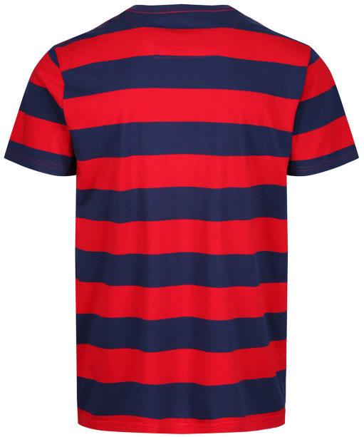 Men's Joules Boathouse Stripe Tee - Red / Blue Stripe