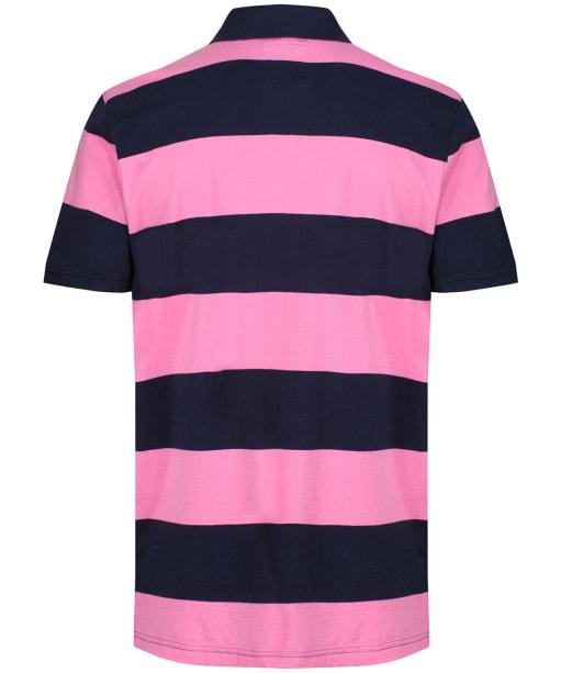 Men's Crew Clothing Waverney Jersey Polo Shirt - Navy / Carmine
