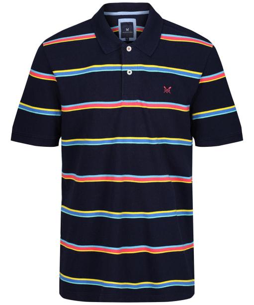 Men's Crew Clothing Heydon Stripe Polo Shirt - Heritage Navy
