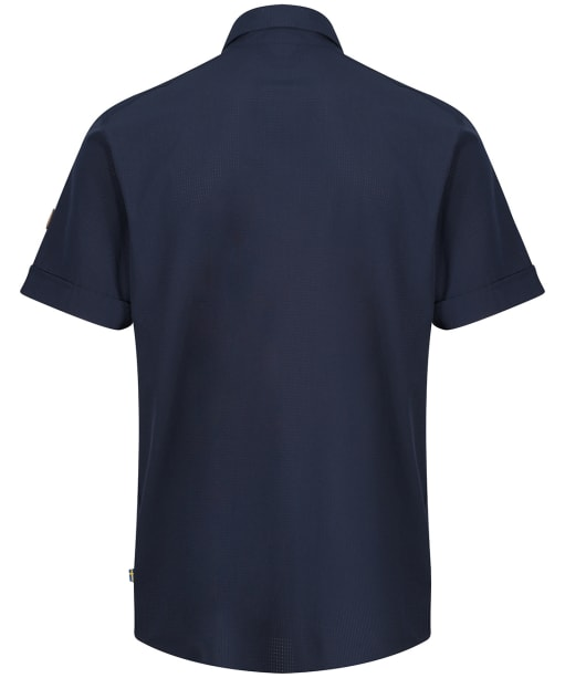 Men's Fjallraven Abisko Trekking S/S Shirt - Dark Navy