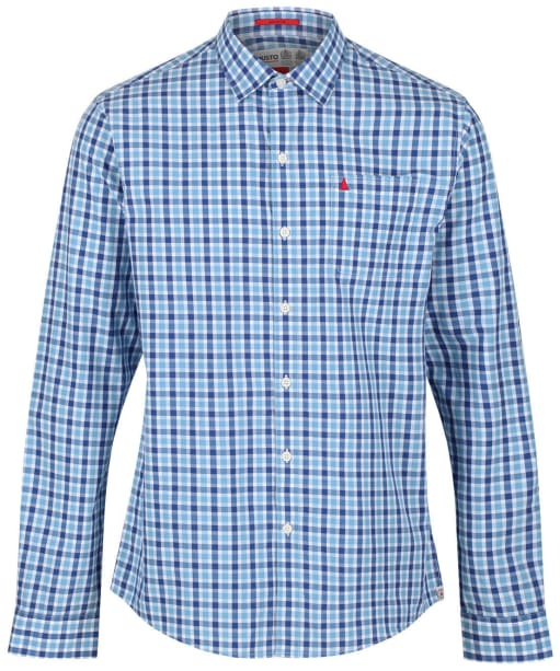 Men's Musto Riviera Long Sleeve Shirt - Ford Blue Check